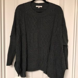 CAbi Cable Knit Boxy Sweater